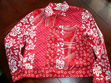 New Direction Jacket ~ red & white ~ size medium ~ bead embellished