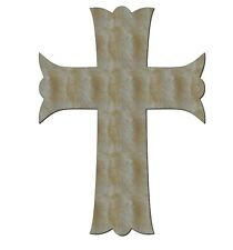Unfinished Wood Cross Crosses Scallop 8'' x 11'' Quantity 10