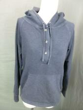 PATAGONIA SIZE XS WOMENS GRAY ATHLETIC ORGANIC COTTON HALF-SNAP HOODIE T817