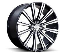 20 inch  20x8.5 Borghini B18M Black Machined wheel rim 5x112 +35