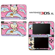 Vinyl Skin Decal Cover for Nintendo 3DS XL LL - Cute Kitty Dophin Princess