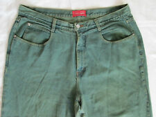 Venezia Green Blue Denim Jeans Size 20 Made in USA 100% Cotton PREOWNED USED