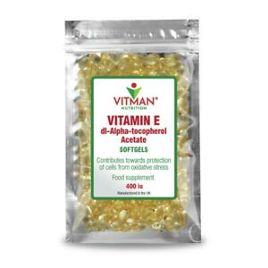Vitamin E Softgels 400iu High Strength Natural Cell Protection Winter Health