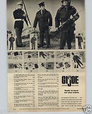 1965 PAPER AD Toy GI Joe Action Soldier Figure Dress Parade PilotCombat Marine