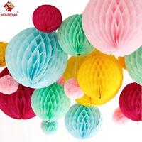 5Pcs HONEYCOMB BALL Tissue Paper Ball Lantern Decor Wedding Party Birthday Pom