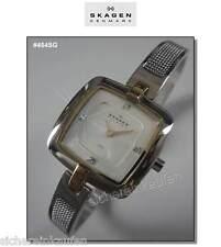 zierliche Skagen Uhr, Sgagen-Box: flache kleine chice Damenuhr; Edelstahl #454SG