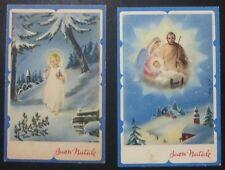 Lot 2 Postcard-Merry Christmas-Holy Family - 1950