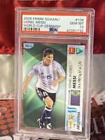 2006 Panini Goaaal FIFA World Cup Germany Soccer Lionel Messi PSA 10 📈🔥 POP 3