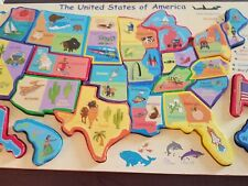 The United States Of America Chunky World Puzzle