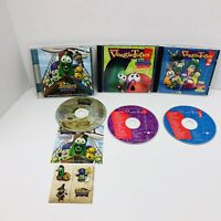Veggie Tales Veggie Tunes 1 and 2 The Pirates Who Don't Do Anything Movie CD Lot