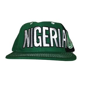 90s VTG ADIDAS NIGERIA WORLD CUP SOCCER SnapBack Hat Nigerian Logo Football Wool
