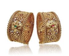 Gold Plated Wedding Bangle Bracelet Kada Indian Fashion Ethnic Jewelry