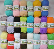 TEDDY SPRINGTIME DOUBLE KNITTING WOOL 10 x 25GRM BALL VARIOUS COLOURS