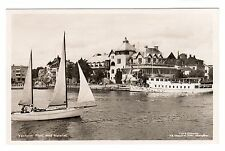 Vaxholm Parti Med Hotellet - Real Photo Postcard 1950s