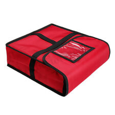 "Pizza Food Delivery Bag Thick Insulated Holds up to 12"" Pizzas RED"