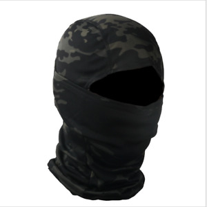 Tactical Camo Full Face Mask Balaclava Hood Ninja Hunting Ski Helmet Liner Scarf