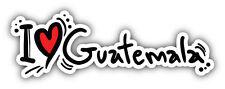 I Love Guatemala Slogan Car Bumper Sticker Decal 6'' x 2''