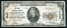 1929 $20 THE RIGGS NB OF WASHINGTON, D.C. NATIONAL CURRENCY CH. #5046