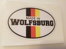 #329 Made in Wolfsburg 9,5x6,5 cm! AUFKLEBER AUTOCOLLANT STICKER VW VOLKSWAGEN