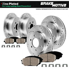 Front+Rear Drill Slot Brake Rotors & Ceramic Pads For Mitsubishi Montero Sport