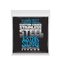 Ernie Ball Extra Slinky Stainless Steel Wound Electric Guitar Strings 8-38 Gauge