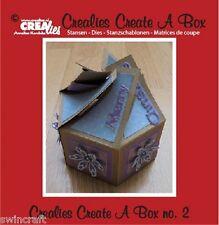 Crealies creare una casella DIE Set N. 2 - 6 Lati Taglio muore ccab02 7 x 14cm