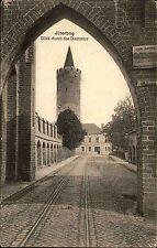 JÜTERBOG AK um 1910 Blick Strassen Partie am Dammtor Blick zum Turm Brandenburg
