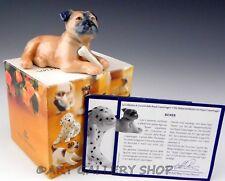 Royal Copenhagen Mini Puppy Collection Figurine #748 Boxer Dog Mint Box & Coa