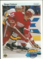 1990-91 Upper Deck Young Guns #525 Sergei Fedorov Detroit Red Wings RC