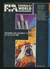 1987 FIA Formula 1 World Championship Detroit Grand Prix VI 1987 Program