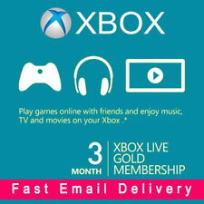 XBOX LIVE 3 Month (6 x Two-Week) GOLD Trial Membership Code Xbox One Xbox 360