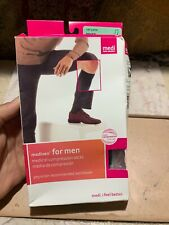 Mediven for Men Select 20-30 Calf Compression Petite Sz 2 Black Closed Toe Socks