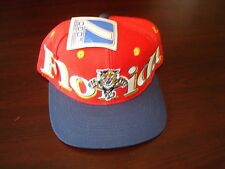 FLORIDA PANTHERS LOGO7   BIG LOGO SCRIPT NEW VINTAGE 90'S HAT CAP  SNAPBACK