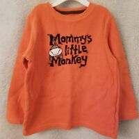 Jumping Beans Boys Orange Brown White Mommy's Little Monkey Shirt Top Size 4T