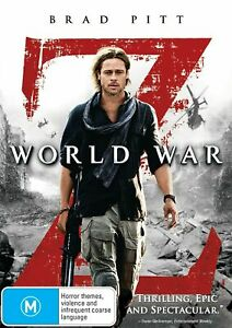 WORLD WAR Z DVD BRAD PITT REGION 4 NEW AND SEALED