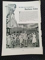 Barbara Eden - Vintage Hollywood - 1962 Book Print