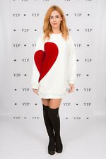 "Designer-Why So Serious Robe Pull Floqué Cœur Manche ""Heart Breaker"""