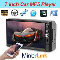 "7"" HD Double 2 Din Car Stereo MP5 Player BT FM Radio Head Unit w/ Remote Control"