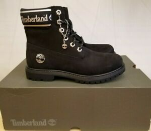 Timberland Pemium Black/ White Waterproof Winter Boots Shoes For Women