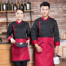 Chef Jacket Top Coat Catering Uniform Workwear Waiter Hotel Restaurant Bake Home