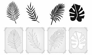 TROPICAL LEAVES PLASTIC STENCIL TEMPLATE MAKE YOUR OWN JUNGLE - REUSEABLE
