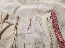 Tissus LELIEVRE : Exceptionnel rideau en moire 100% soie avec galon à droite