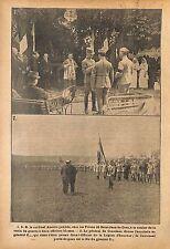 Cardinal Amette Croix de Guerre Officiers Poilus Général  WWI 1915 ILLUSTRATION