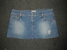 "Moto Mini falda tamaño 10 largo de 10 ""Faded Mediano Azul señoras Jeans"
