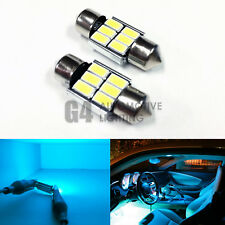 2x DE3175 31mm Festoon LED Blubs 5730 SMD Error Free Canbus Dome Map Light, Teal