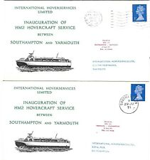 AVIATION : 1971 HM2 Hovercraft Service-Southampton-Yarmouth-pair of covers