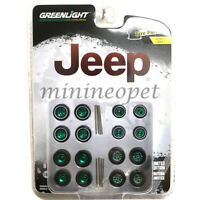 GREENLIGHT 16010 C AUTO BODY SHOP WHEELS AND TIRES PACK SET 1/64 JEEP Chase