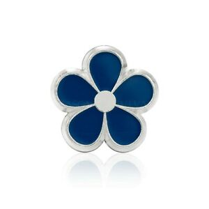 Masonic Revival Forget Me Not Lapel Pin (Silver)