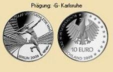 10 EURO Silber Gedenkmünze BRD 2009 IAAF Leichtathletik-WM Berlin  Prägung -G-