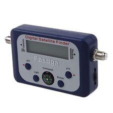 Fasdga Digital Lcd Satellite Finder Signal Strength Meter Dish Blue U4J6